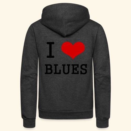 I Heart Blues - Unisex Fleece Zip Hoodie