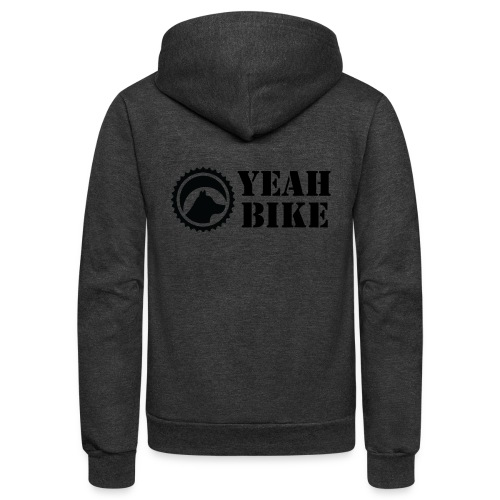 Yeah Bike black - Unisex Fleece Zip Hoodie