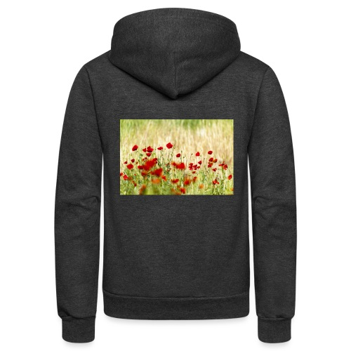 Iranian Poppies - Unisex Fleece Zip Hoodie
