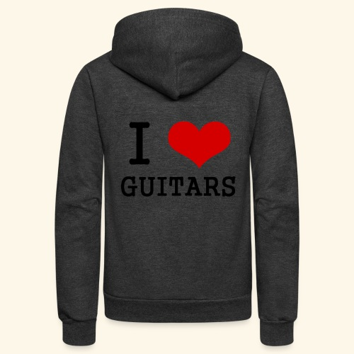 I love guitars - Unisex Fleece Zip Hoodie