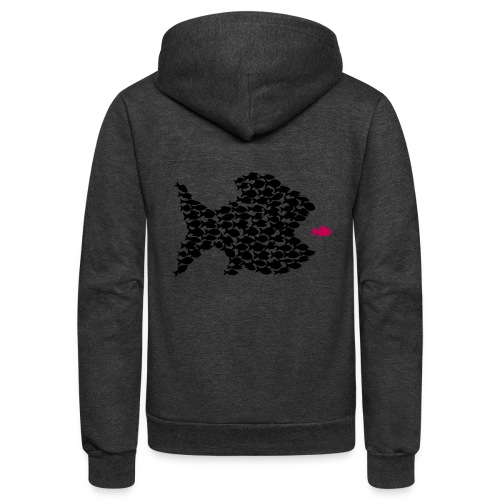 fish swarm comic hunt hunter ocean hunting fishes - Unisex Fleece Zip Hoodie
