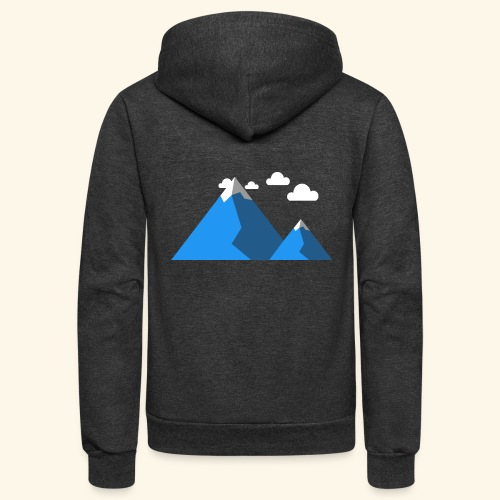 Mountains - Unisex Fleece Zip Hoodie
