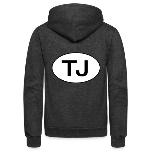 Jeep TJ Wrangler Oval - Unisex Fleece Zip Hoodie