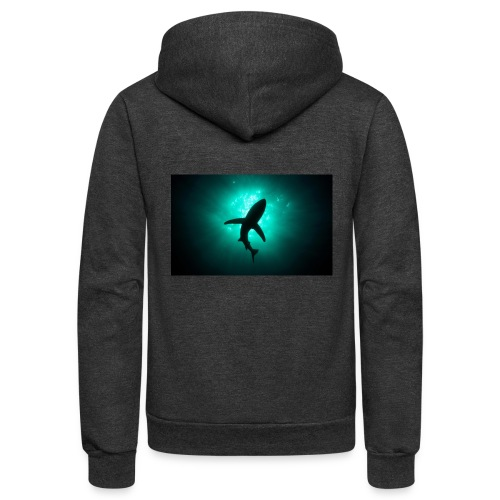Shark in the abbis - Unisex Fleece Zip Hoodie