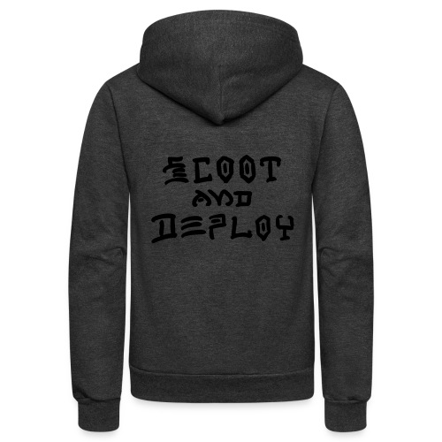 Scoot and Deploy - Unisex Fleece Zip Hoodie