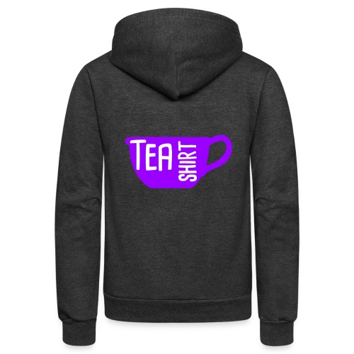 Tea Shirt Purple Power of Tea - Unisex Fleece Zip Hoodie