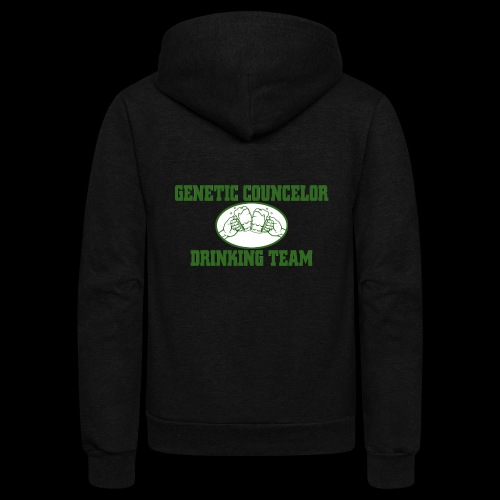 genetic counselor drinking team - Unisex Fleece Zip Hoodie