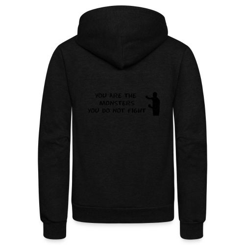Fight the Monsters - Unisex Fleece Zip Hoodie