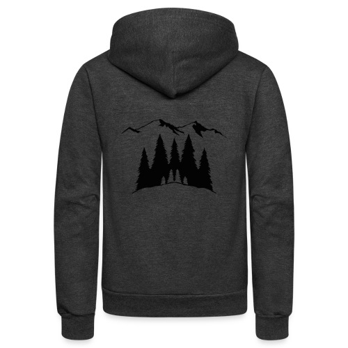 Mountains Trees - Unisex Fleece Zip Hoodie