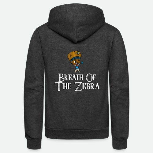 Breath Of The Zebra | Zebra Nation - Unisex Fleece Zip Hoodie