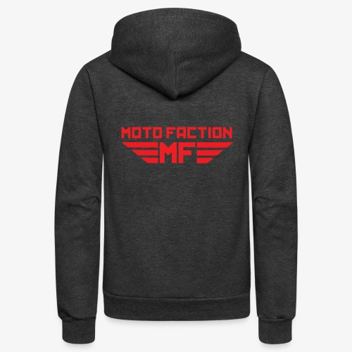 MotoFaction Logo - Unisex Fleece Zip Hoodie