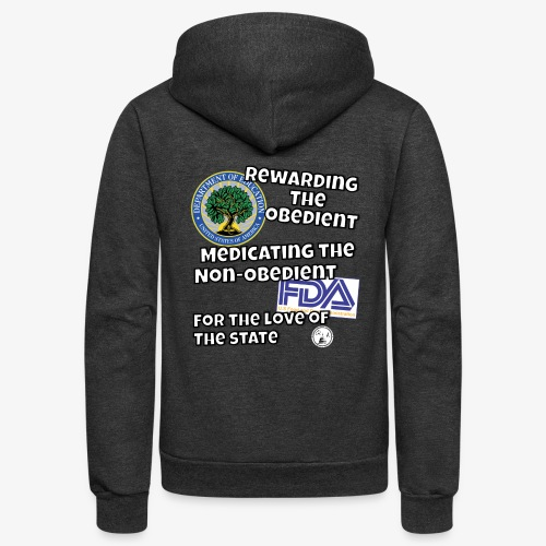US Dept. of Education - Rewarding the Obedient... - Unisex Fleece Zip Hoodie