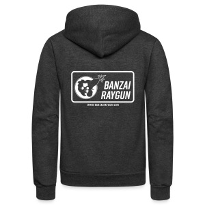 Banzai Raygun Rectangle Logo - Unisex Fleece Zip Hoodie