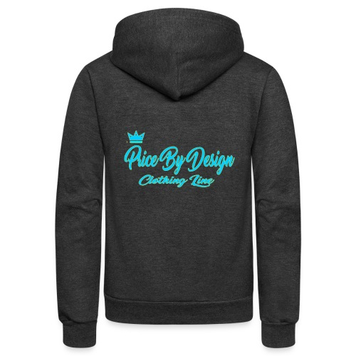 Price By Design Logo - Unisex Fleece Zip Hoodie