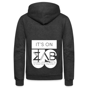 Its On Betas White - Unisex Fleece Zip Hoodie
