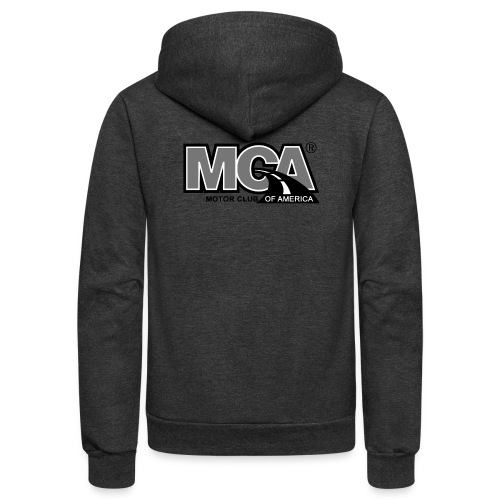 MCA Logo WBG Transparent BLACK WHITE TITLEfw fw pn - Unisex Fleece Zip Hoodie