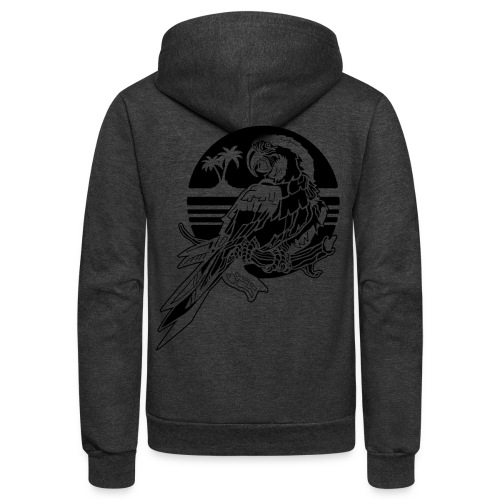 Tropical Parrot - Unisex Fleece Zip Hoodie