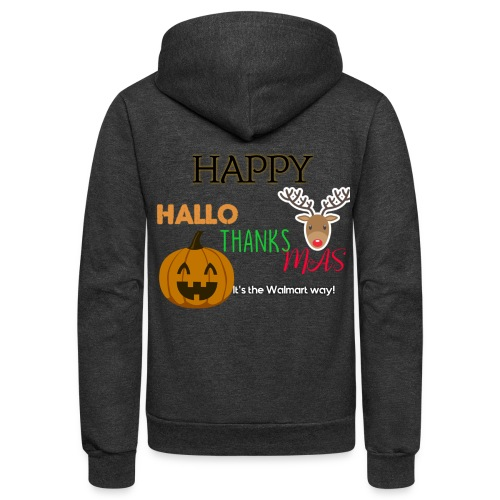 HAPPY HALLO-THANKS-MAS - Unisex Fleece Zip Hoodie