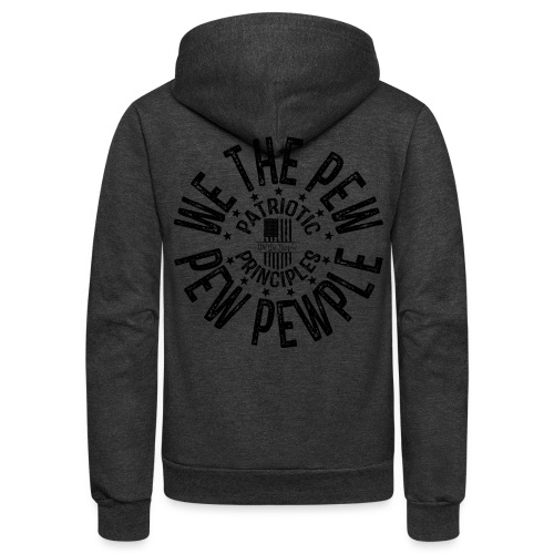 OTHER COLORS AVAILABLE WE THE PEW PEW PEWPLE B - Unisex Fleece Zip Hoodie