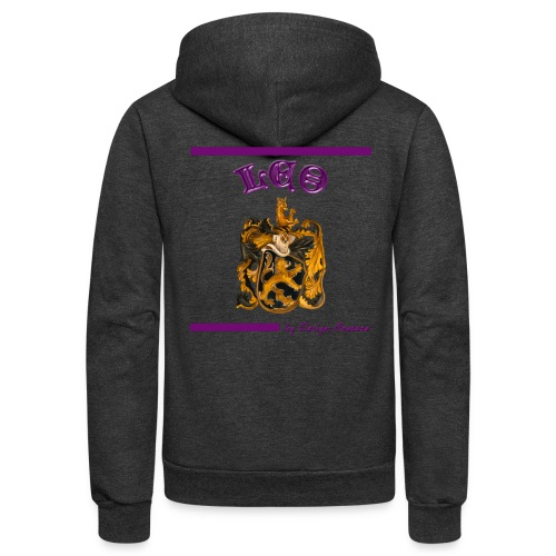 LEO PURPLE - Unisex Fleece Zip Hoodie