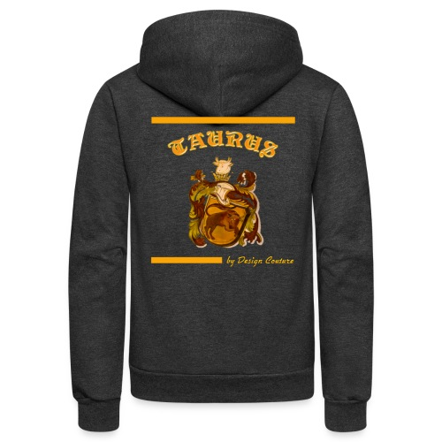 TAURUS ORANGE - Unisex Fleece Zip Hoodie