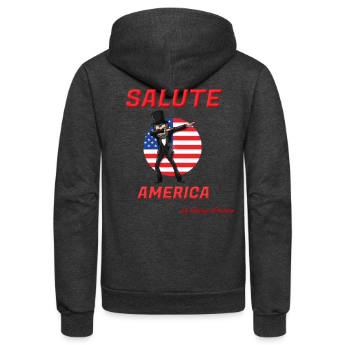 SALUTE AMERICA RED - Unisex Fleece Zip Hoodie