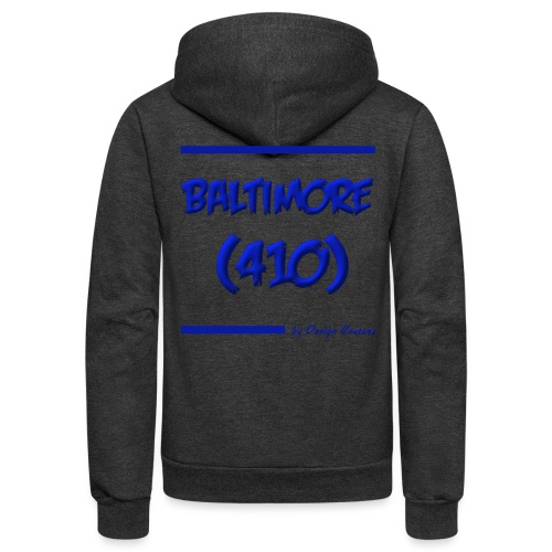 BALTIMORE 410 BLUE - Unisex Fleece Zip Hoodie