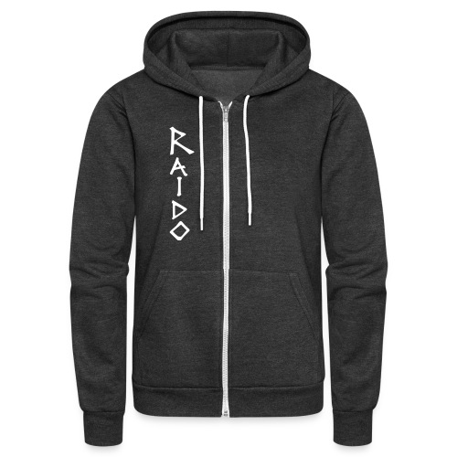 Raido vertical ai - Unisex Fleece Zip Hoodie