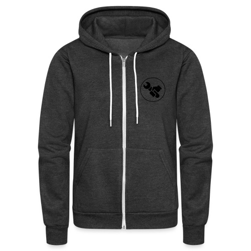 wrench logo - Unisex Fleece Zip Hoodie