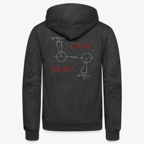 CX500 and GL500 - 22 degree twist - Unisex Fleece Zip Hoodie