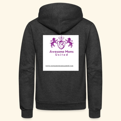 Awesome Moms United logo shirt - Unisex Fleece Zip Hoodie