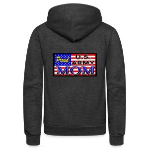 Proud Army mom - Unisex Fleece Zip Hoodie by American Apparel