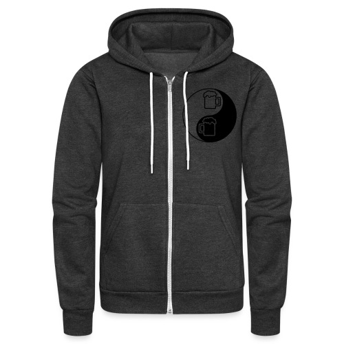 Yin Yang Beer Mugs - Unisex Fleece Zip Hoodie