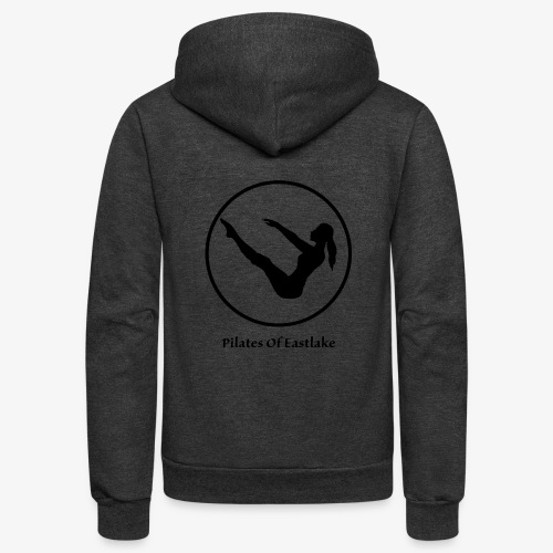 Pilates Of Eastlake Logo - Unisex Fleece Zip Hoodie