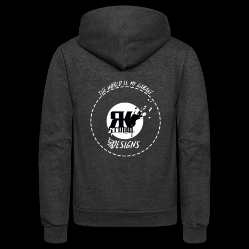 The World is My Garage - Unisex Fleece Zip Hoodie
