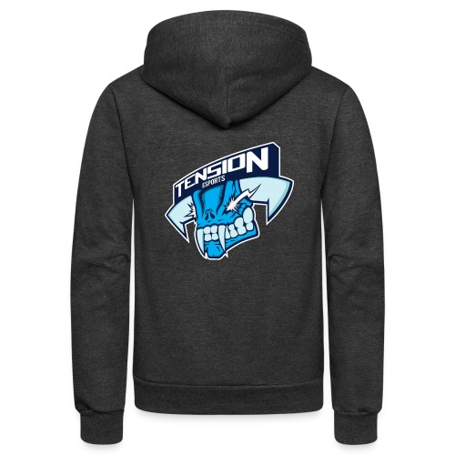 Tension eSports Logo - Unisex Fleece Zip Hoodie