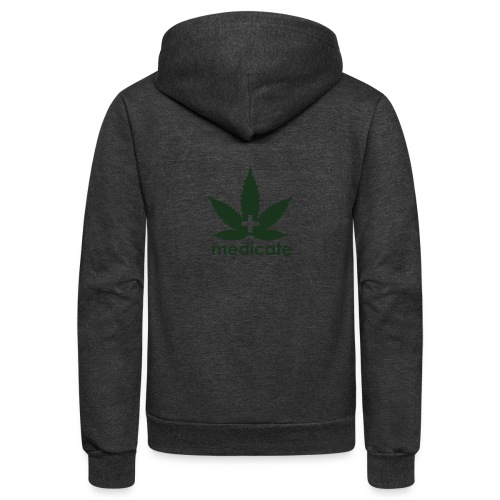 Medicate Supporter - Unisex Fleece Zip Hoodie