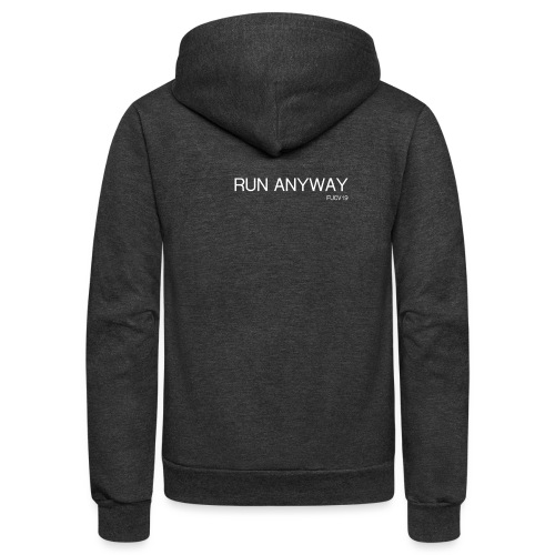 RUN ANYWAY FUCV - Unisex Fleece Zip Hoodie