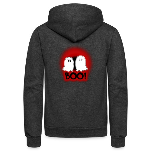 Ghosties Boo Happy Halloween 3 - Unisex Fleece Zip Hoodie