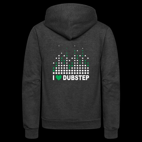 I heart dubstep - Unisex Fleece Zip Hoodie