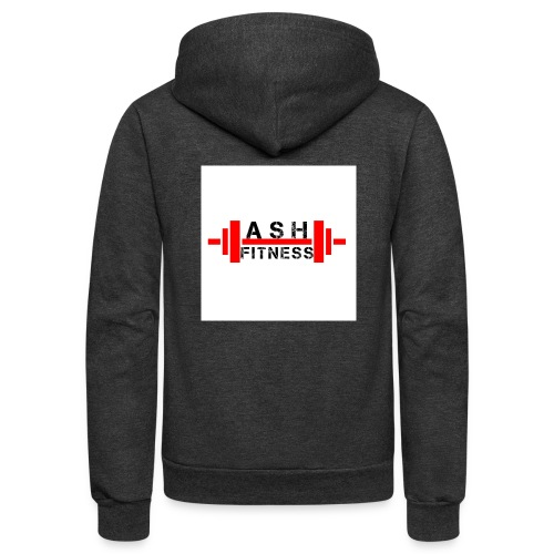 ASH FITNESS MUSCLE ACCESSORIES - Unisex Fleece Zip Hoodie