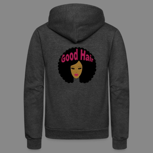 Good Hair (Pink) - Unisex Fleece Zip Hoodie