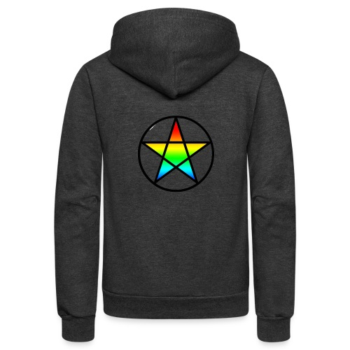 Official Iridescent Tee-Shirt // Men's // White - Unisex Fleece Zip Hoodie