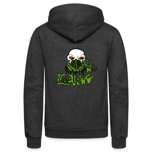 Leaking Gas Mask - Unisex Fleece Zip Hoodie