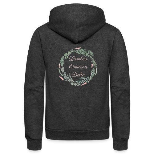 LOD Flower Wreath 1 - Unisex Fleece Zip Hoodie