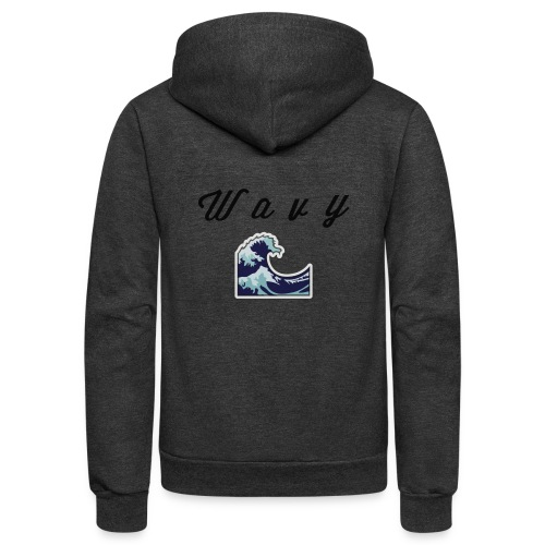 Wavy Abstract Design. - Unisex Fleece Zip Hoodie
