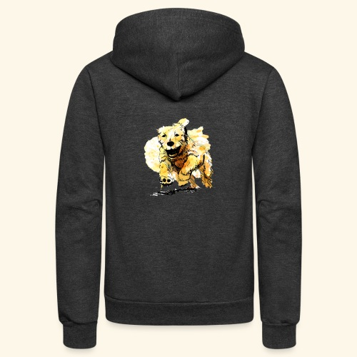 oil dog - Unisex Fleece Zip Hoodie