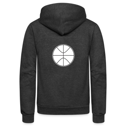 Basketball black and white - Unisex Fleece Zip Hoodie