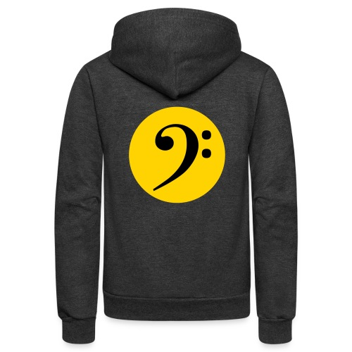 Bass Clef in Circle - Unisex Fleece Zip Hoodie