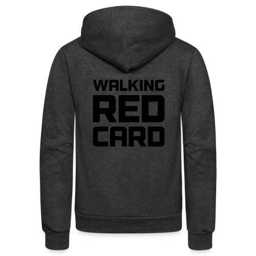 Walking Red Card - Unisex Fleece Zip Hoodie